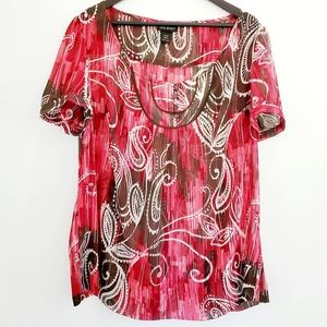 Plus Size Geo Print 2 pc. Lane Bryant Top, 18/20